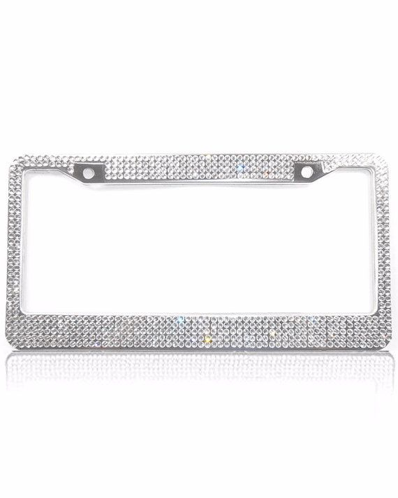 Swarovski Crystal License Plate Frame, Car Accessories for Women ...