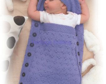 This PDF Knitting Pattern is for this Cosy Sleeping Bag ...