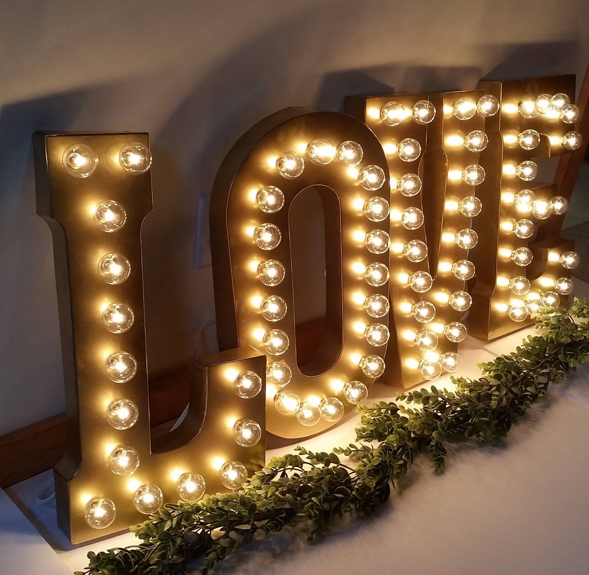Gold Large Wedding Marquee Light Light Up Letter Giant Light Up Letter Led Marquee Sign Etsy Wedding Sign Marquee Letter 21 Light In 2020 Etsy Wedding Signs Light Up Letters Large