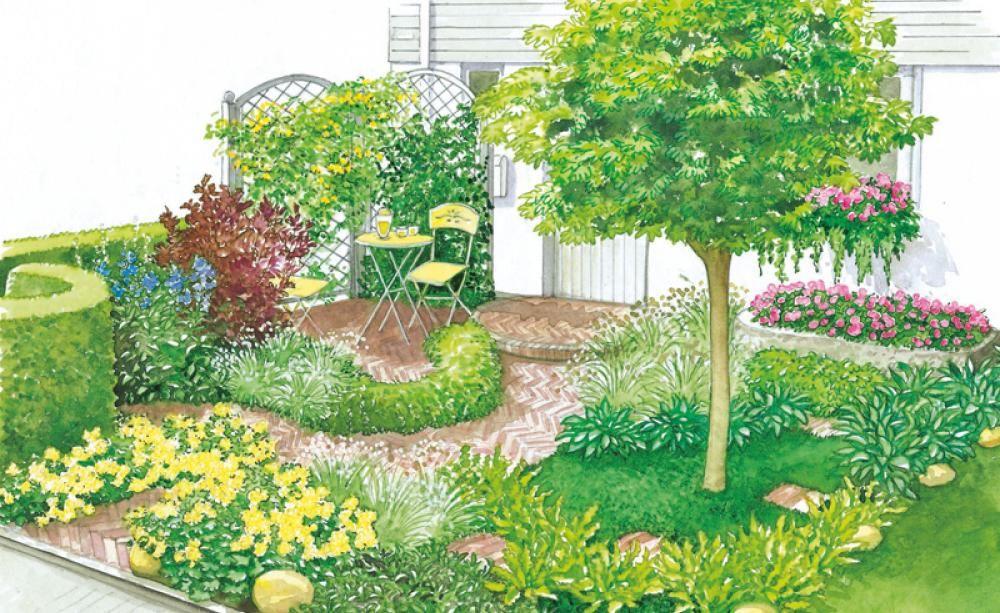 Vorgartengestaltung 40 Ideen zum Nachmachen Rankgitter, Efeu - kleine garten gestalten bilder