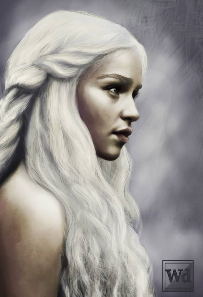 Beautiful Daenerys fan art (via reddit com/user/drunkreaper