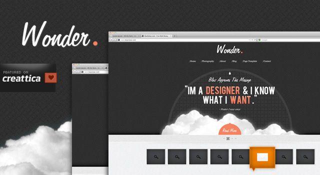 Wonder Theme - A free PSD Site Design - Free PSDs