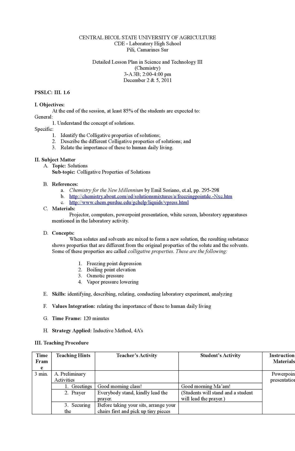 Colligative Properties Worksheet Answer Key