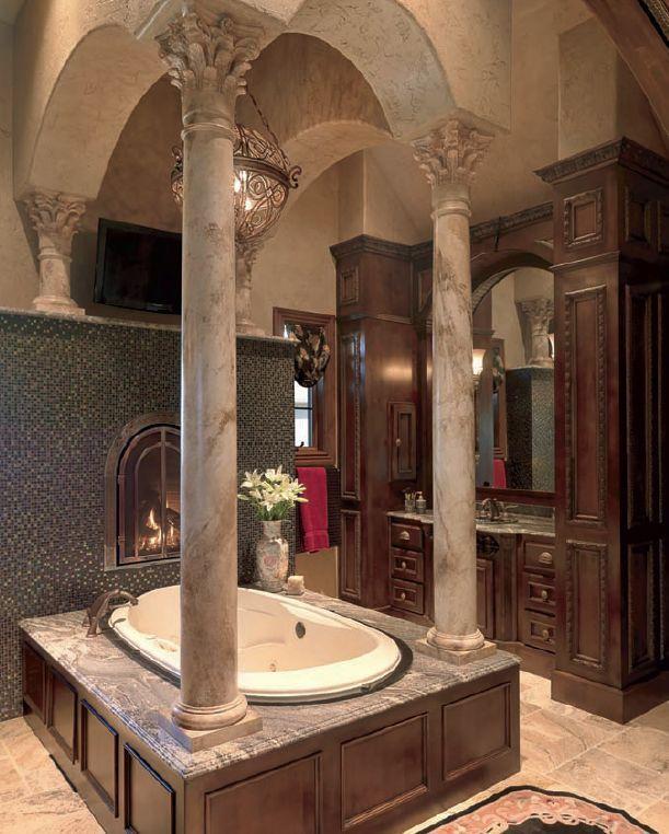 Bathroom Columns gorgeous bathroom columns, millwork, lightingswoon! | wish  i