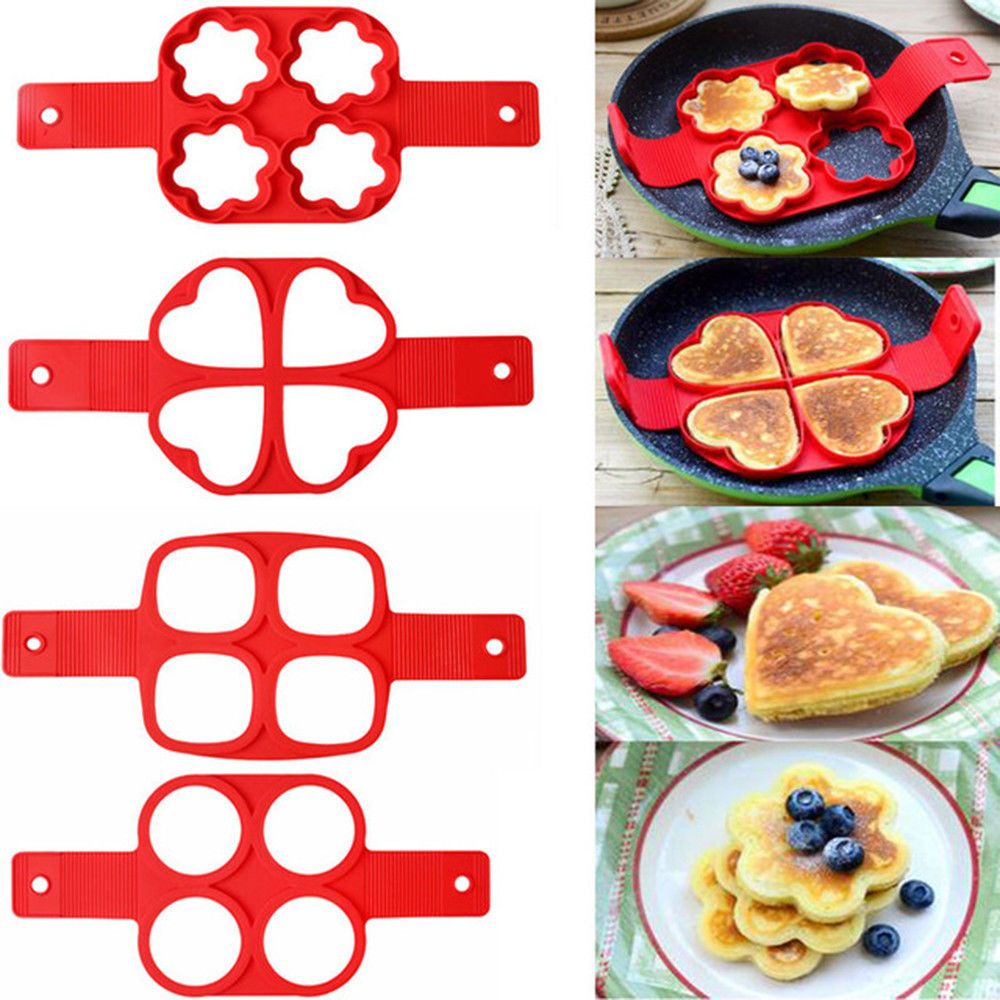 Egg Ring Pancakes Maker Cheese Egg Cooker Pan Flip Mold Nonstick Pancake