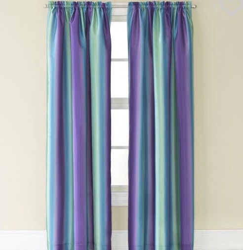 Purple And Teal Mix Curtains Panel Curtains Ombre Curtains