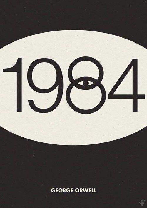 George Orwell 1984 Minimalist Poster Graphic Design Graphic