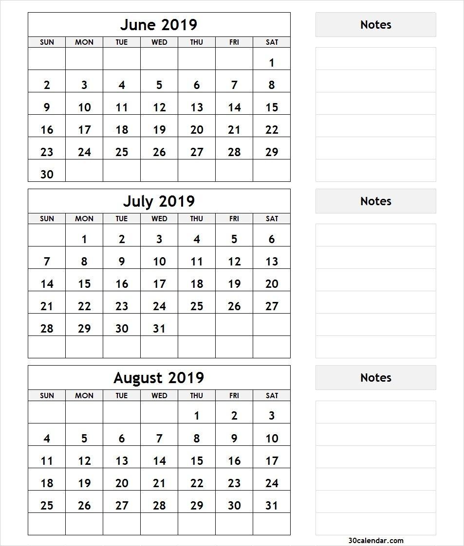 3-Month-Calendar-June-July-August-2019