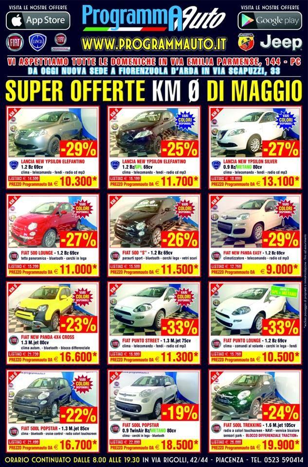 Programma Auto ha sempre una vasta scelta di vetture a KM Zero Fiat Lancia Alfa Romeo
