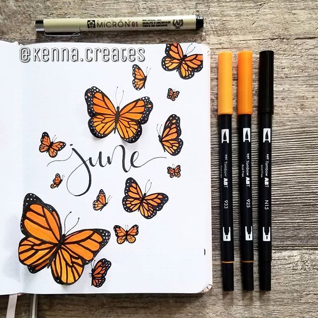 """McKenna Hansen on Instagram: """"I'm so exciting forJune! I decided to do a monarch butterfly theme because we've had SO many butterflies where I live this year! Also I…"""""""