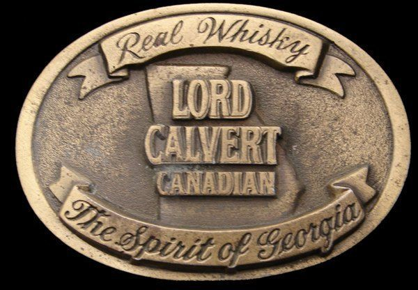 IJ14148 VINTAGE 1970s ***LORD CALVERT CANADIAN WHISKEY*** GEORGIA BOOZE BUCKLE #UNKNOWN #Classic