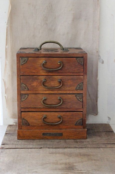 Drawer jewellery wooden with Wooden Dresser Retro