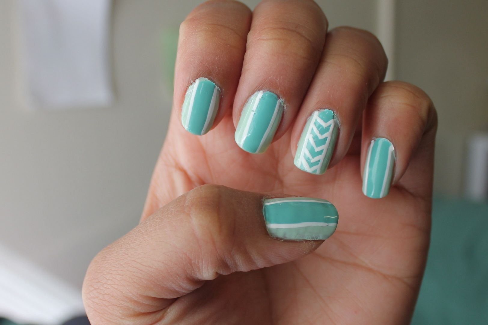 Simple Nail Art With Two Colours Easy Nail Designs Simple Nails Two Color Nails Simple Nail Designs