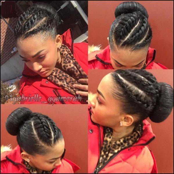 Quick Twists And A Bun Style Natural Hair Diy Hair Natural Hair