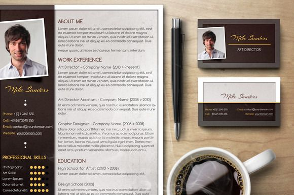 Premium Rsum Set By Visual Impact On Creativework  Resume