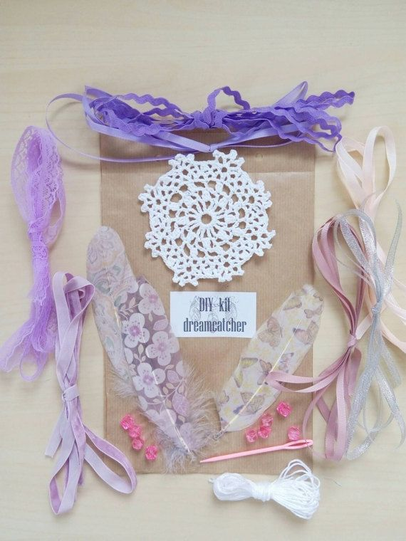 DIY Dream Catcher Kit Craft Dreamcatcher Party Activity Bridesmades Favour Birthday Favours Purple Girly