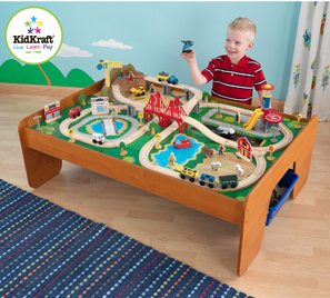 wooden train set for two year old | second birthday wishlist | Pinterest