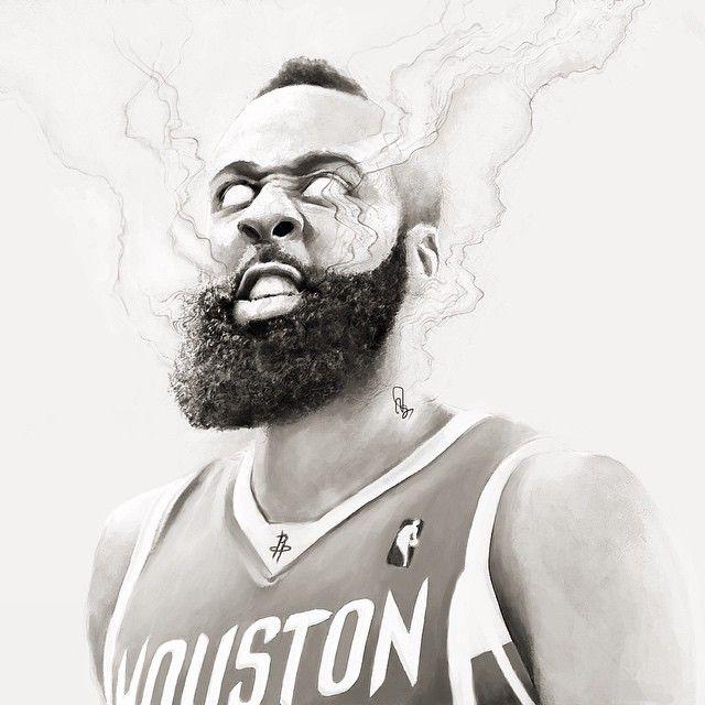 James Harden drawing Nba art, James harden, Basketball art