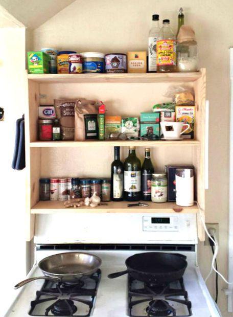 Diy Above Stove Shelf Stove Shelving And Shelves