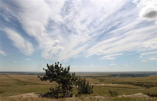 Head-Smashed-In Buffalo Jump, just west of Fort Macleod, Alta., is located in big sky country amid rolling ranchland and lush river valleys.