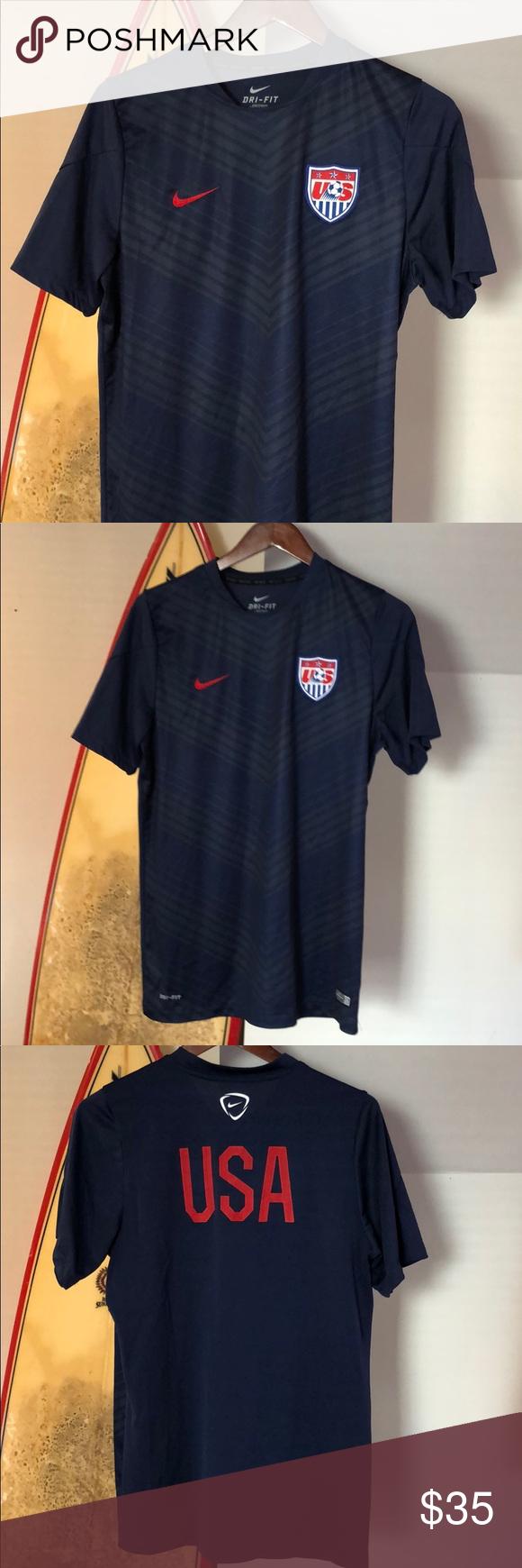 Nike Dri Fit Usa Soccer Shirt Size Large Nike Dri Fit Usa Soccer Shirt Size Large Ignore Converse Adidas Nike Air J In 2020 Usa Soccer Shirt Soccer Shirts Shirt Size