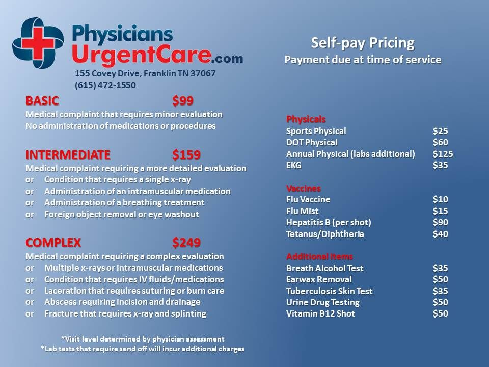 Physician urgent care center with images urgent care
