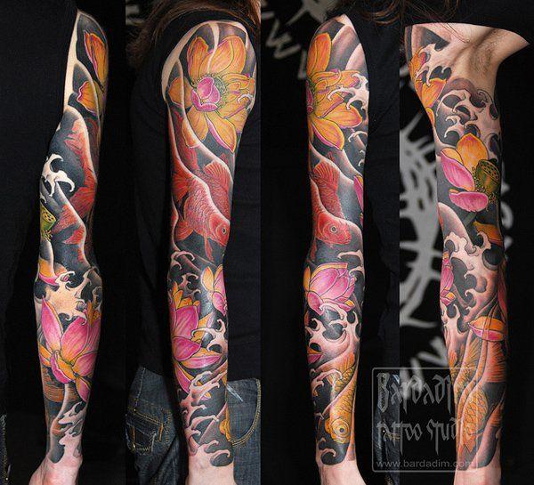 28 Colored Full Sleeve Tattoos: 60 Cool Sleeve Tattoo Designs