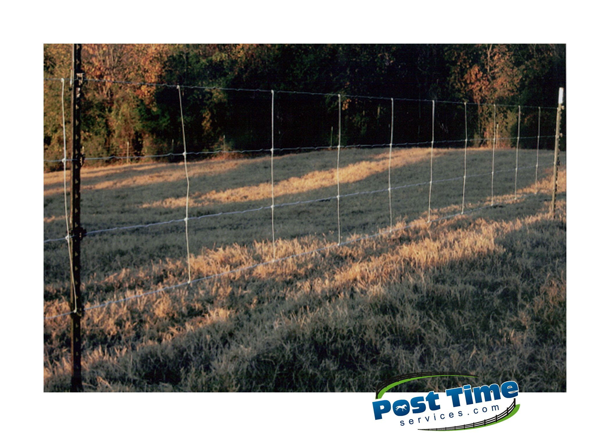 This Electralock fence is installed on T-Bars at 25\' centres. If you ...