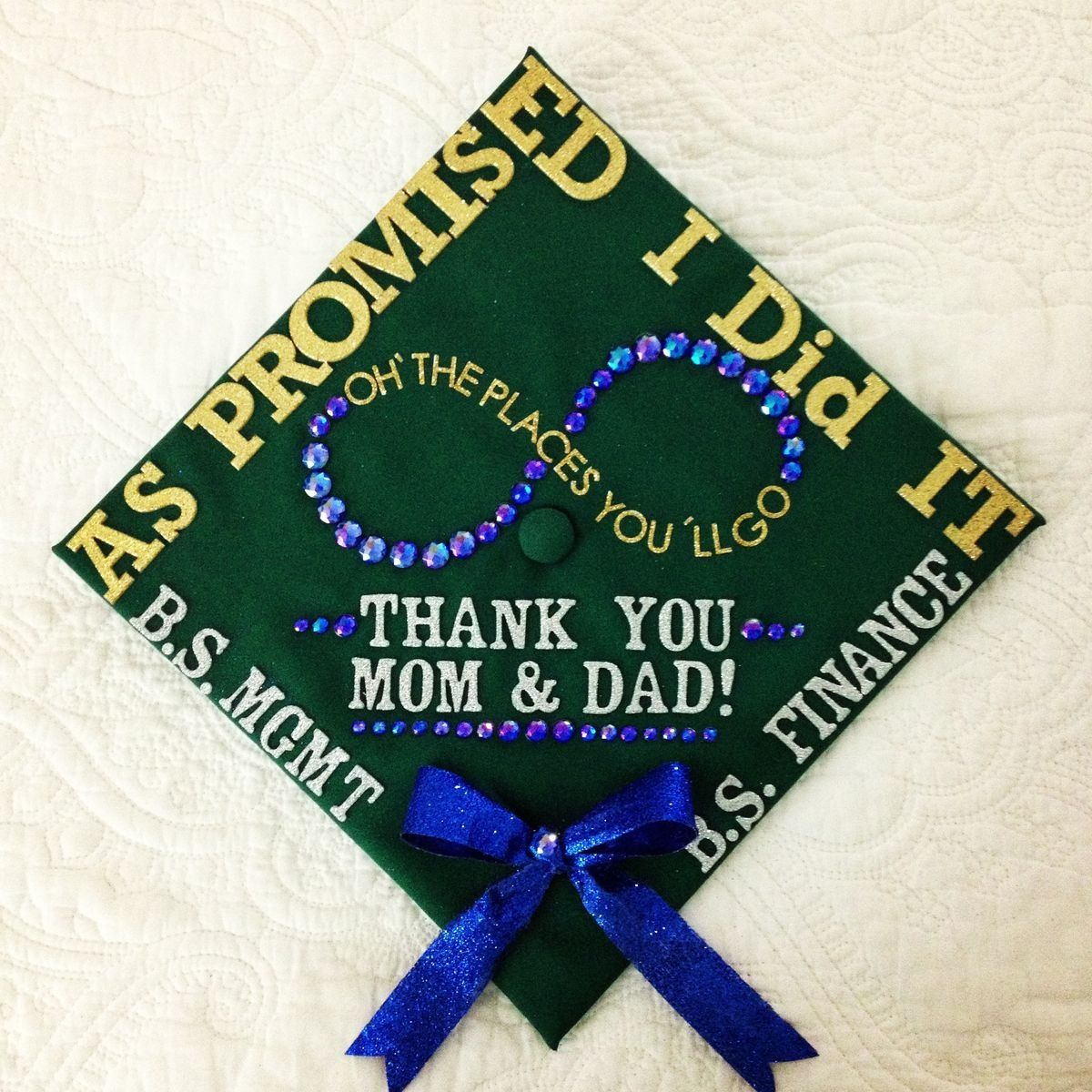 Thank you mom and dad grad cap ideas She turned her Dreams into ...