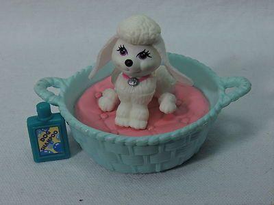 Lot Littlest Pet Shop Vintage Kenner 1992 White Purple Eyes Poodle