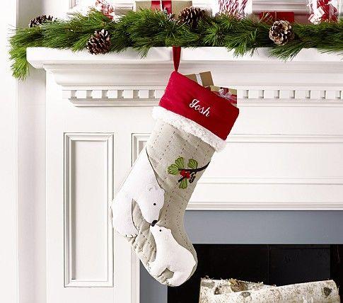 polar bear christmas stocking pottery barn kids. Black Bedroom Furniture Sets. Home Design Ideas