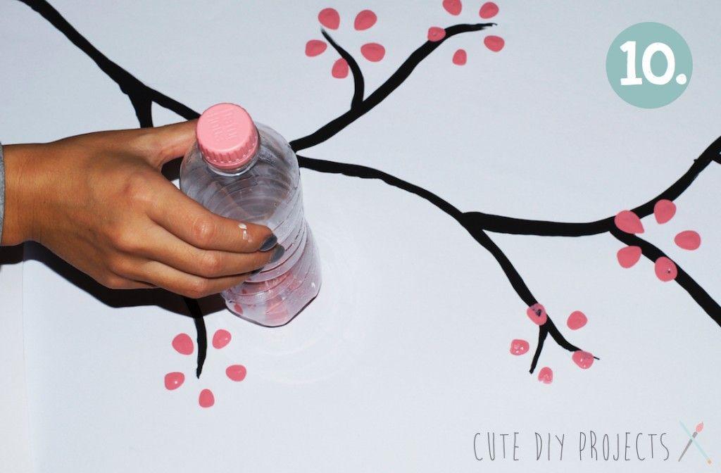 Открытка с помощью бутылки