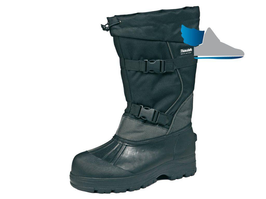 Vysoká čierna zateplená obuv.