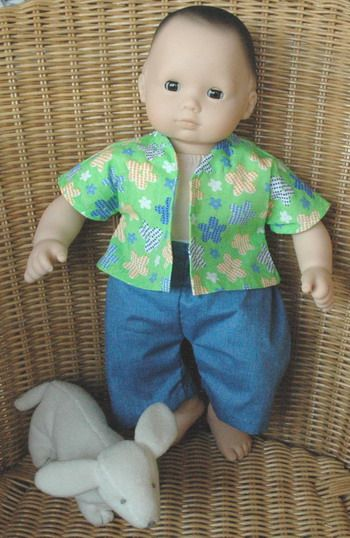 Boy Doll Clothes Free Pattern And Tutorial Lots Of Doll Clothes Patterns On This We Baby Doll Clothes Patterns Sewing Doll Clothes Doll Clothes Patterns Free
