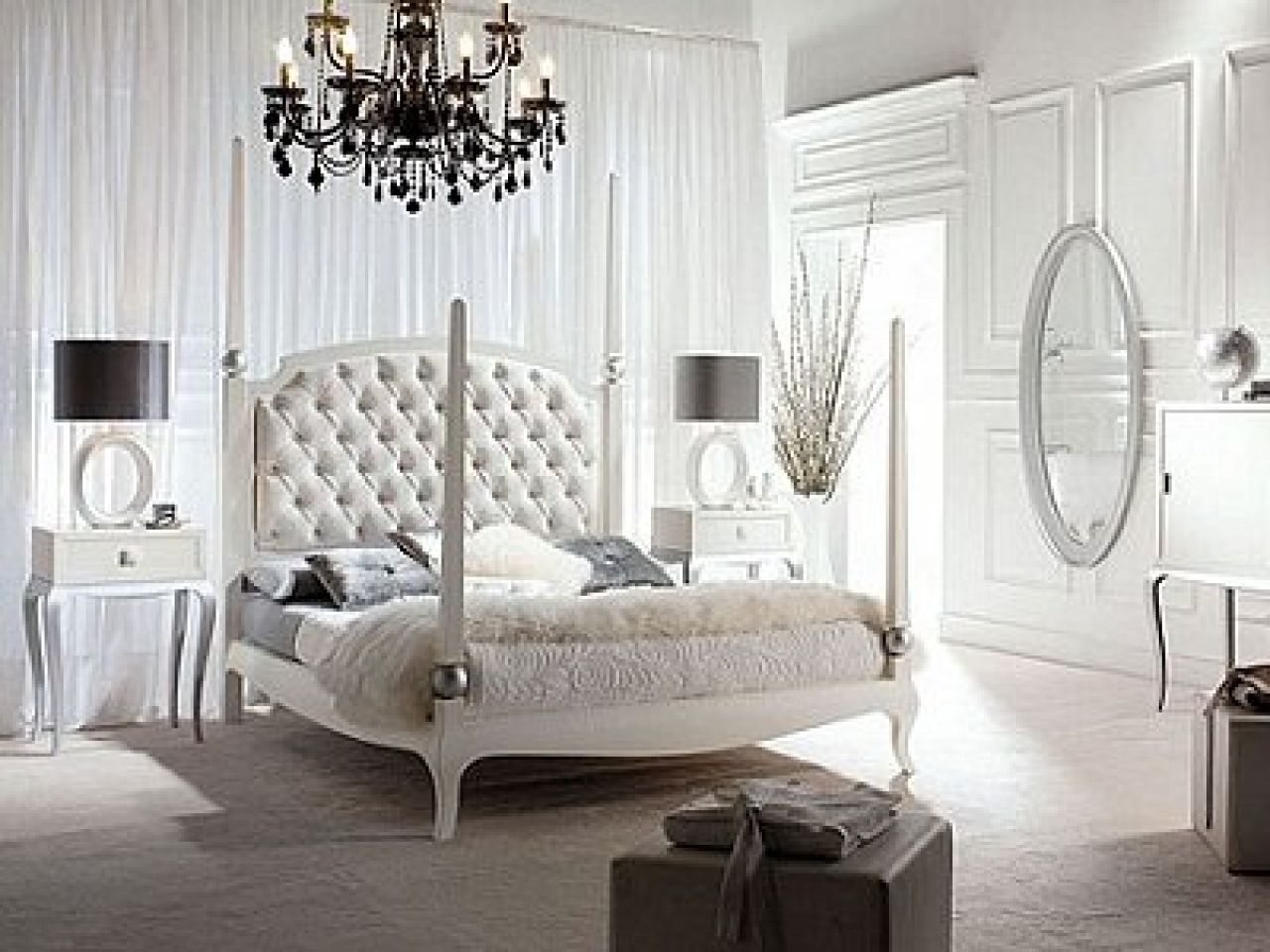 Old Hollywood Glam Decor Bedroom