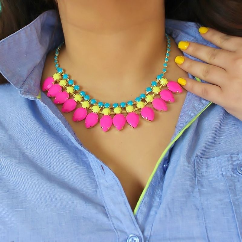 Image of 1 Left! For Fun: Neon Statement Necklace from Viva la Jewels from vivalajewels.com enter code robinhills at checkout so they know who referred you!
