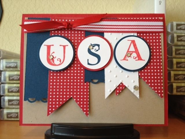 Happy 4th Of July Cards Handmade Cards Greeting Cards Handmade
