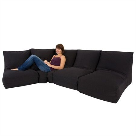 Beanbag Sofa Modular Corner Small Lounge Single Modern