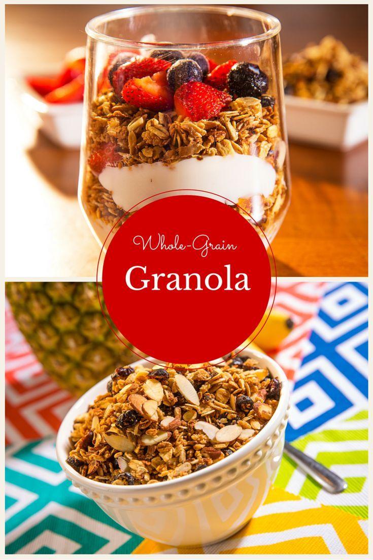 Crunchy whole grain granola recipe food granola food