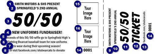 big logos 50 50 raffle ticket fundraising pinterest raffle