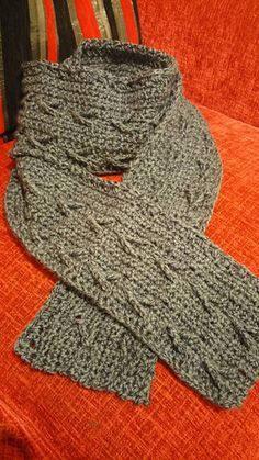 b2c752be6b530 Crochet Young Men's Scarf This extra long scarf makes a great gift for a  special guy