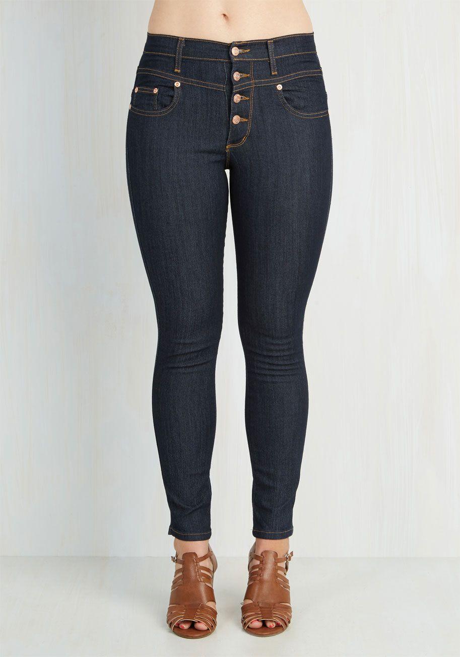 aa53ea27a59b Karaoke Songstress Jeans in Ankle Length. Step into the karaoke spotlight  in these classic denim skinnies!  blue  modcloth