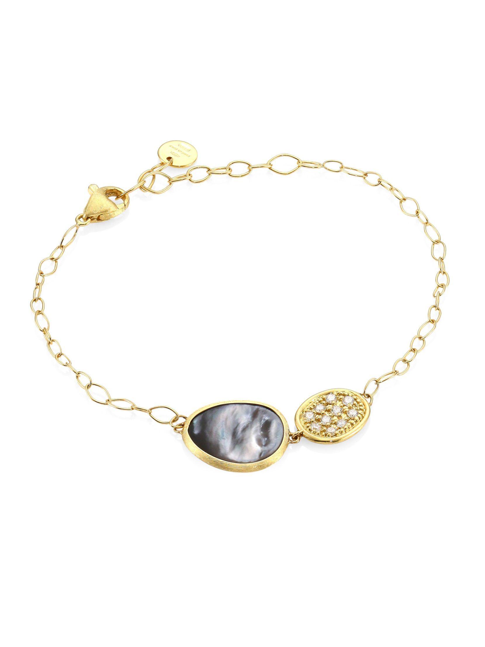 Marco Bicego Lunaria Black Mother-of-Pearl Station Bracelet K8E48SkaMe