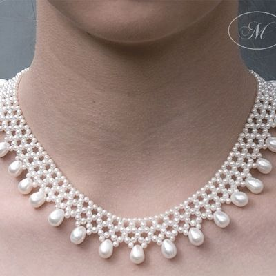 Pearl Lace Fringe Necklace