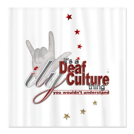 deaf culture deaf culture thing shower curtain things to wear  deaf culture deaf culture thing shower curtain