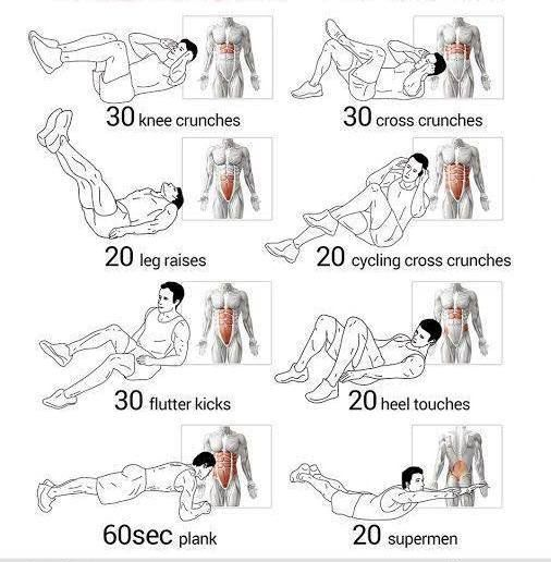 types of sit ups for abs