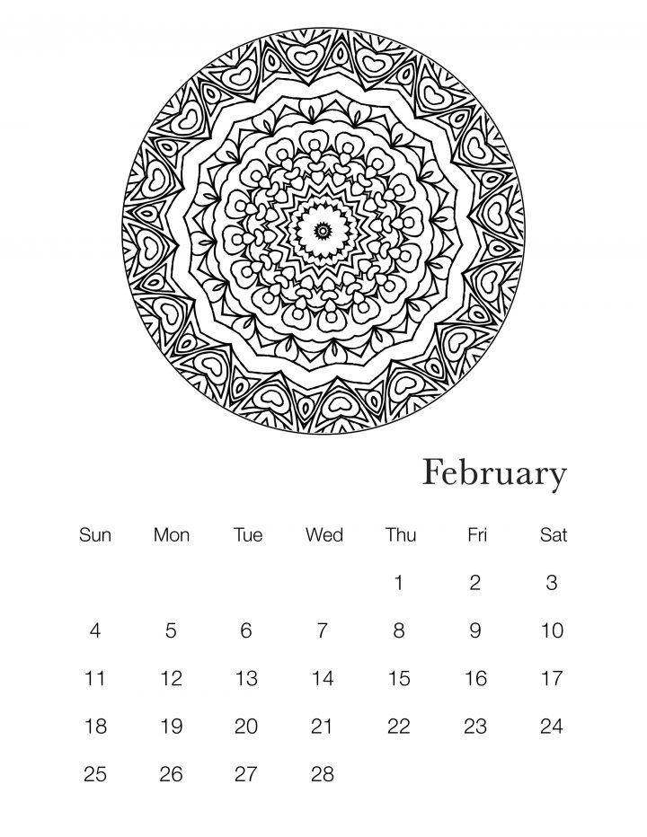 Free Printable 2018 Mandala Coloring Book Calendar Mandala