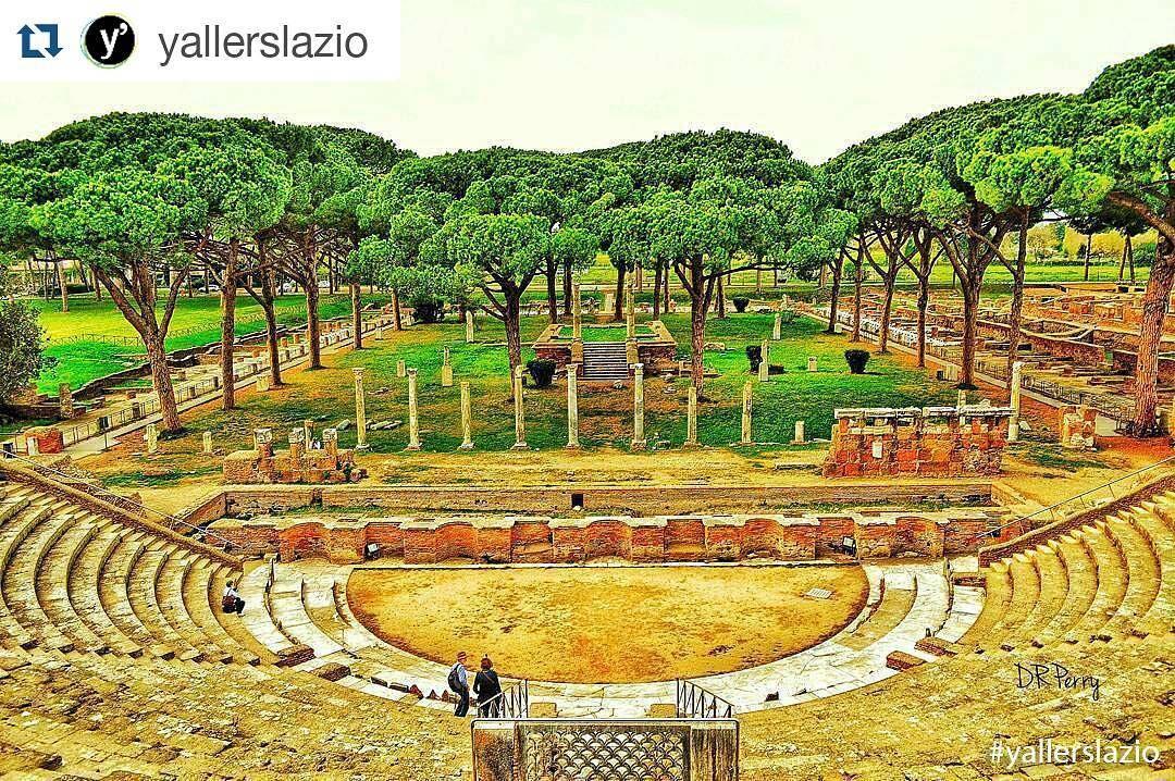 """""""Let the Show Begin"""" - Ostia Antica  #photobydperry  #Repost @yallerslazio with @repostapp  Ammirate i resti del teatro che risplendono dorati fra i pini marittimi.  _____________   Foto di @david_r_perry.  Foto selezionata da : @gamma_f Usa i nostri tag: #yallersitalia e #yallerslazio. ____________   #Lazio #Ostia #Ostiantica #Roma #Italy #porto #italianmoments #picoftheday #sky #colors #blue #2016 #teatroromano #green #sun #nature #archeologia #romantica  @yallerslazio @gamma_f Grazie…"""