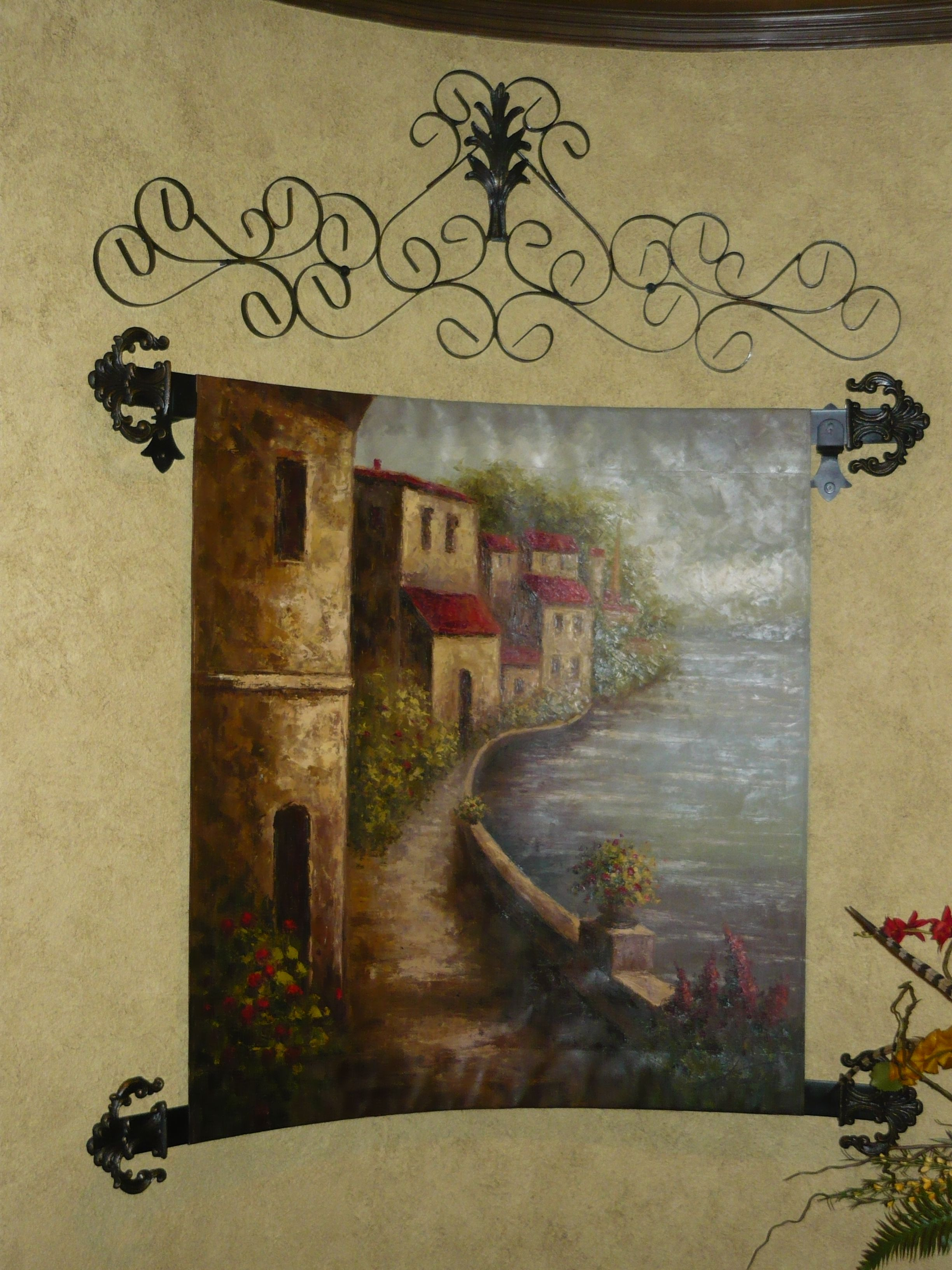 custom iron work for tapestry old world tuscan