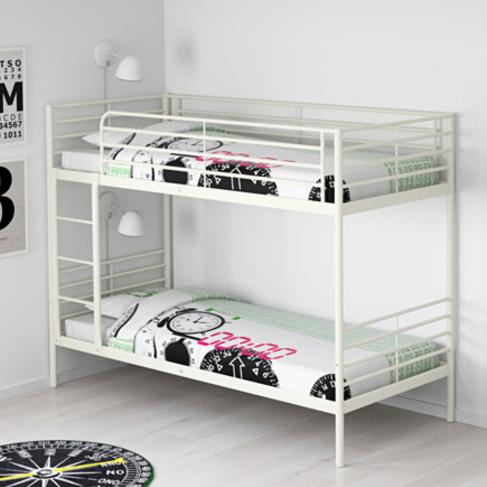 Svärta Estructura De Litera Blanco Ikea Camas Para 2
